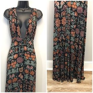 Free People | Floral Maxi Dress CrissCross Back